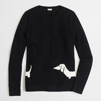 Factory intarsia wraparound dachshund sweater