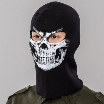Skull Skulls Halloween Fall Winter Cycling Full Face Masks Cap Windproof Warmer  Printed Sport Ski Running Bike Bicycle Neck Hat Head Scarf Men Calavera