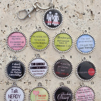 BLACK FRIDAY SALE - Funny Sayings Keychain Gifts for Him Gifts for Her Art Photo Keychain Saying Keyring Key Ring Gifts under 5