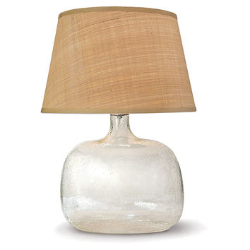 Regina-Andrew Design, Seeded Oval Table Lamp, Glass, Table Lamps