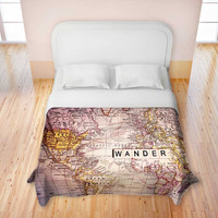 Artistic Duvet Covers by DiaNoche Designs, King, Queen, Twin, Toddler, Home Decor, Bedding, Children, Adult, Wander