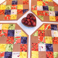 Fruit Basket Quilted Place Mat Set of 4