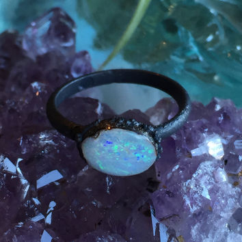 Raw Opal Ring Size 6.5