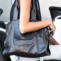 designer leather handbag - Front Pocket Handbag Tote - Coolil.com