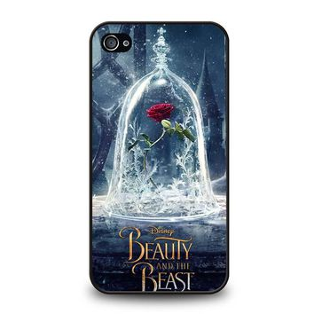 BEAUTY AND THE BEAST ROSE IN GLASS iPhone 4 / 4S Case Cover