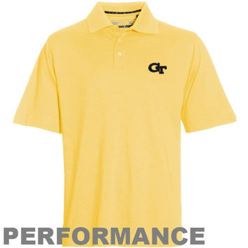 Cutter & Buck Georgia Tech Yellow Jackets Championship Performance Polo - Gold
