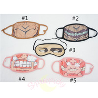 5 Styles Chibi Atack On Titan Dust Mask or Levi's Eyes Blinder SP141361