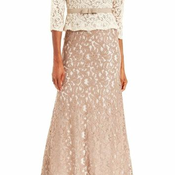Adrianna Papell - Quarter Sleeve Lace Gown 81907760
