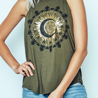 GOLD SUN GRAPHIC TANK - PROMO 50% OFF