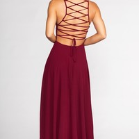 Fairytale Ending Maxi Dress - Oxblood