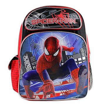 "16"" Spider-Man on Building Background School Backpack Bag for School"
