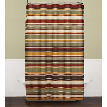 Cannon Eastside Stripe Red Shower Curtain