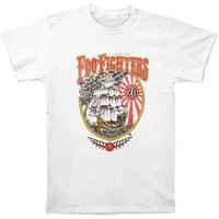 Foo Fighters Men's  20th Anniversary Ship Slim Fit T-shirt White