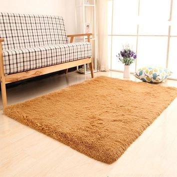 Super Soft Modern Shag Area Rugs Living Room Carpet Bedroom Rug for Children Play Front Entrance Doormat