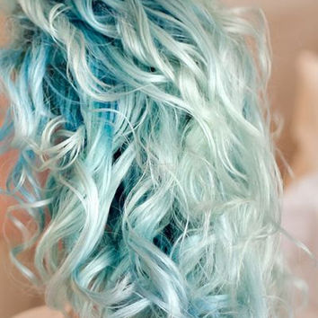 HAIR CHALK: Light Blue // Temporary Hair Color // Chalk Pastel Dye