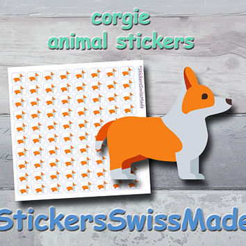 PLANNER STICKER || corgie - dog || animal stickers || small colored icon | for your planner or bullet journal