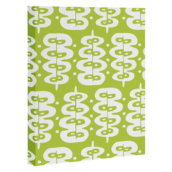 Heather Dutton Fern Frond Green Art Canvas