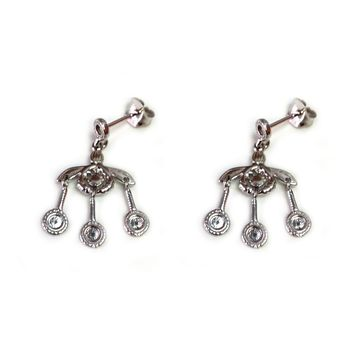 Greek  Ancient Minoan Bees Sterling Silver Rhodium Plated Earrings