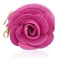Charmed by Stacy Caroline Flower Coin Purse (Hot Pink)