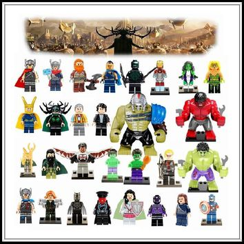 Deadpool Dead pool Taco Marvel DC Super Heroes Avengers Thor 3 Hulk Loki Iron Man  Batman Joker Legoing Superheroes Models Building Blocks Toys AT_70_6