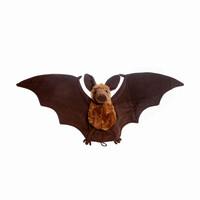 Plush Bat Doll Soft Simulation Stuffed Animal Collection Toys Bat with Wings Christmas Gift for Boys Girls Kids 27*9""