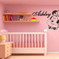Minnie Mouse Customizable with Name // Disney Vinyl Wall Decal //