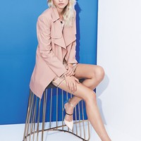 Mural Trench Coat, MINKPINK Top & Skirt | Nordstrom