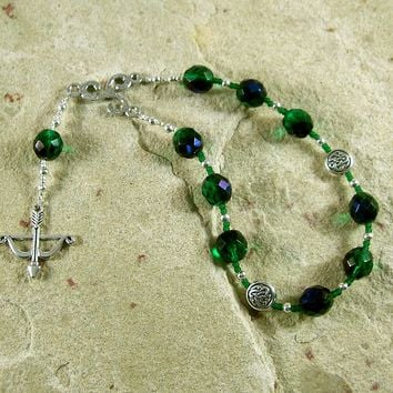 Abnoba Pocket Prayer Beads: Gaulish Celtic Goddess of the Wilderness
