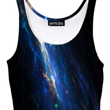 Fiber Optic Electric Galaxy Crop Top
