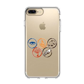 DIVERGENT iPhone 4/4S 5/5S/SE 5C 6/6S 7 8 Plus X Clear Case
