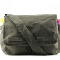 Olive Drab Diaper Bag Messenger Style - Cool Diaper Bags - Crazy Baby Clothing