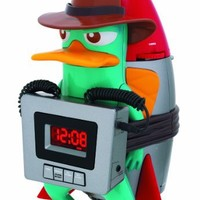 Disney PF300ACR Phineas/Ferb for Kids Wake up buzzer Alarm Clock with AM/FM Radio LCD Display with Back-light)