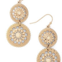 Shine is of the Essence Earrings in Cream
