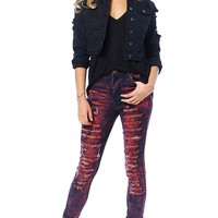 Horror Night Distressed Jeans
