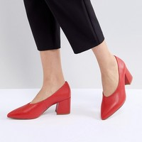 Matt & Nat Sibyl V Cut Block Heeled Point Shoe at asos.com