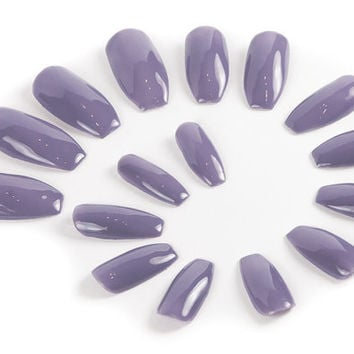 Lilac UV Gel Nails, Press on Nails, Fake Nails, False Nails, Nails, UV Gel, Coffin Nails, Stiletto Nails, Almond Nails, Square Nails