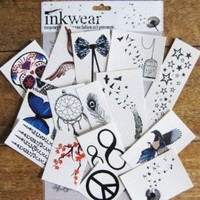 Most Popular Inkwear! Pack of Temp Tattoos