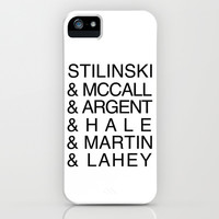 Teen Wolf Last Names iPhone & iPod Case by Dan Lebrun
