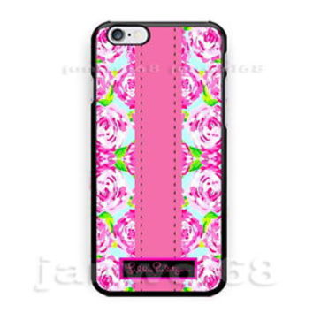 Lilly Pulitzer Roses Flower Pink iPhone 6s 6s+ 7 7+ Print On Hard Plastic Case