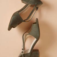 Crisscross My Heart Block Heel in Olive