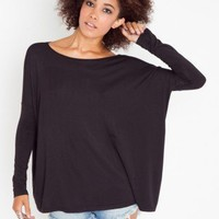 Bamboo Scoop Top - Black - NASTY GAL