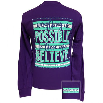 Girlie Girl Everything is Possible Faith Long Sleeve T-Shirt