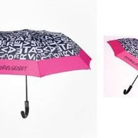 Victoria's Secret 2012 Supermodel Limited Edition Umbrella Black White Pink