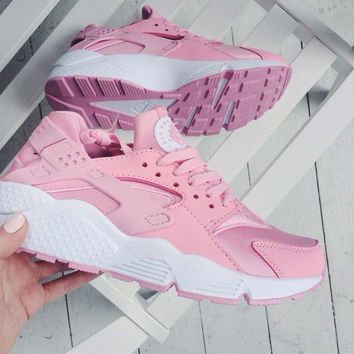 """NIKE""AIR Huarache Running Sport Casual Shoes Sneakers pink"