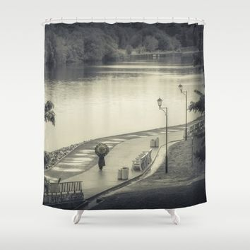 Lonely Walk Shower Curtain by Cinema4design | Society6