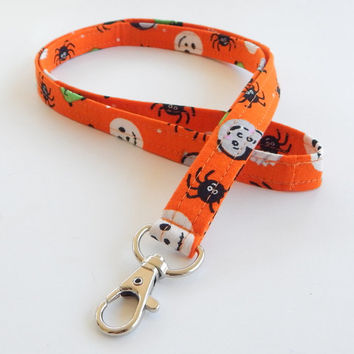 Halloween Lanyard / Monsters / Frankenstein Keychain / Mummy / Key Lanyard / ID Badge Holder / Cute Lanyards / Spiders / Vampires / Ghosts