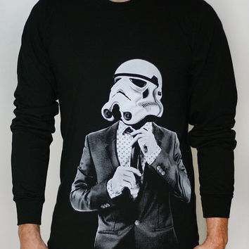 Smart Trooper - Mens / Unisex Long Sleeve t-shirt ( Star Wars long sleeve )