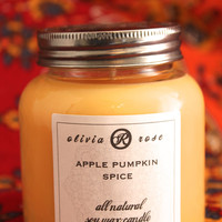 Apple Pumpkin Spice 7oz Natural Soy Wax Jar Candle