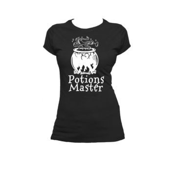 Potions Master Ladies or Mens T Shirt, Harry Potter, Slytherin, Nerd Girl Tees, Geek Chic, T-Shirt