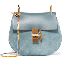 Chloé - Drew small leather and suede shoulder bag